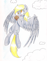 Derpy and Muffin by CartoonOwl