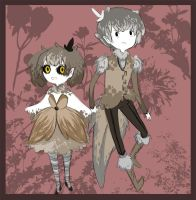 Princess Saw-Whet and Prince Boreal by Fernvie