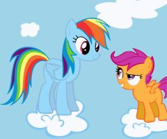 Rainbow Dash and Scootaloo by lendaclue