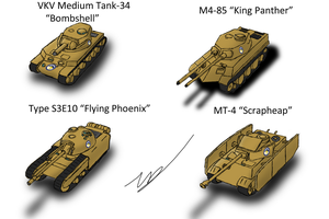 Equestrian Medium Tanks by ZatGeneral