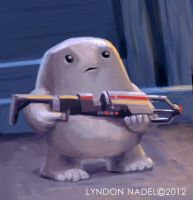 Adipose. Defender of the Blue Box. by squiffel