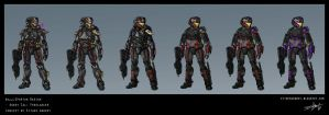 Halo Spartan Custom Character by Either-Art