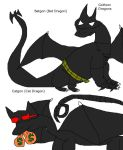 Gotham Dragons Batgon and Catgon by Dinzydragon