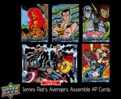 Upper Deck Avengers Assemble AP Sketch Cards by JamesRiot
