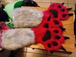 First Fursuit Paws by Dragon-hobbit101