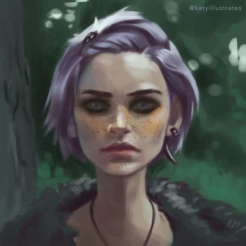 Day 5 Painting - Face Study by sluggieart