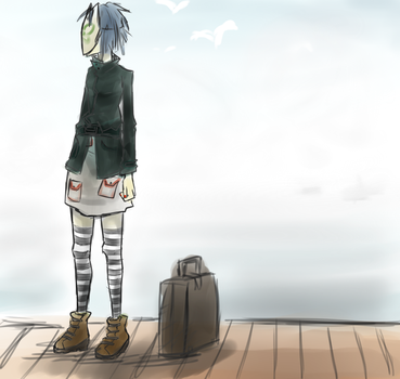 Escaping to Plastic Beach. by Papercut-Chika