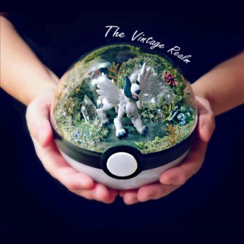 Poke Ball Terrarium - Mega Absol Enchanted Forest by TheVintageRealm