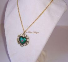 Twilight Princess Heart Piece Container Pendant by TorresDesigns
