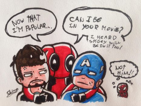 Deadpool in civil war? Nope by Shimo-shimory