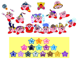 Kirby's abilities 4 by DarkDiddyKong