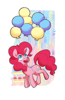 Pinkie Pie Partying by Nifty-senpai