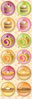 Cake buttons by CarinaReis