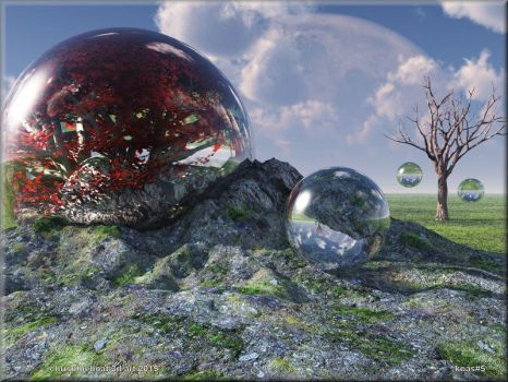 A rocky situation for a clear sphere by chrisntheboat
