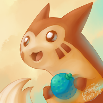 Furret with an Oran Berry by silverava