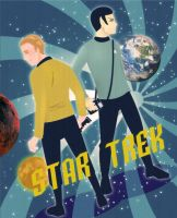 Kirk and Spock by 224umi