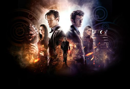 Doctor Who: The Day of the Doctor (Textless) by SkinnyGlasses