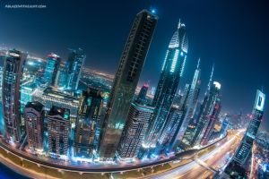 The Rainbow Skyline by VerticalDubai