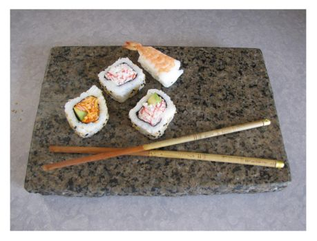 Sushi cold serving tray by EcoGranite