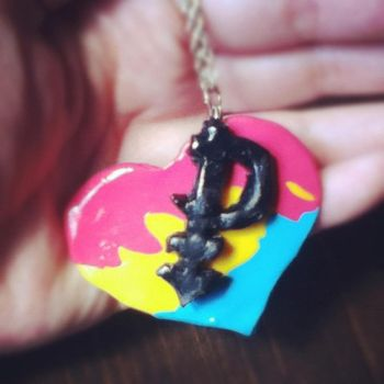 Pansexual Pride. Necklace by Nanby