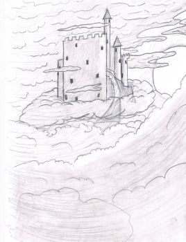 castle in the sky by Afrothunder678