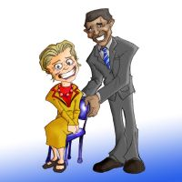 Hillary Clinton Barack Obama by Tophoid
