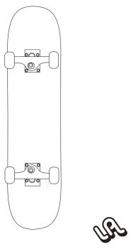 SKATEBOARD vector by luther1000