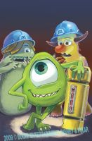 Monsters Inc 1 - Cover C by lazesummerstone