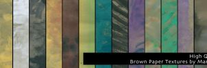 Brownpaper texture pack - high quality by martinacecilia