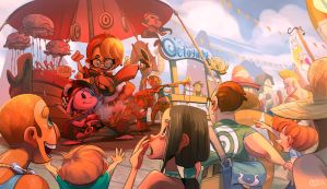 Eugene and Annie at the Market Pier by Curly-Artist