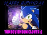 Sonic Says : Happy Birthday by Ms-Maggie