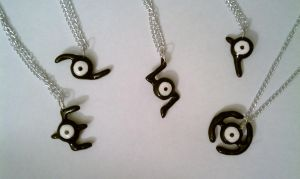 Pokemon Unown Necklace