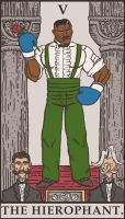 Street Fighter Tarot - The Hierophant by SayIanIanIan