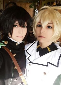 Owari no Seraph - Mika and Yuu by TemeSasu