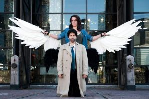 Lucifer and Cas (Toronto FanExpo 2013) by superwholocked-bexz