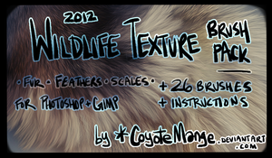 Wildlife Texture Brushes by witherlings