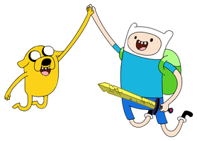 Finn and Jake by mlpochea