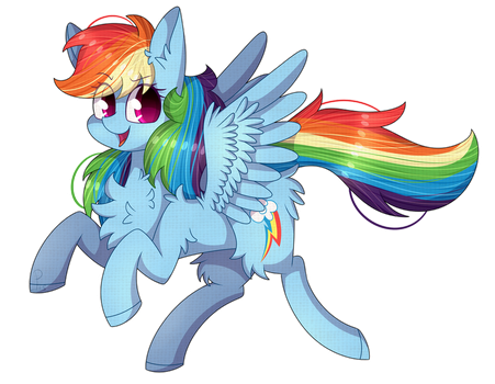 :Rainbow Dash: by SoundwavePie