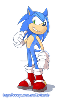 Sonic Stories - Sonic by Kayla-Na