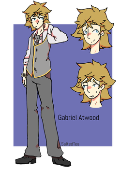 Gabriel Atwood ref - Original character by SaltedTeaLeaves