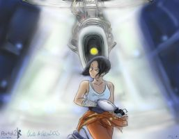 [Behind You...] Portal 2 by ReveLeViFleur
