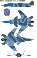 ASF-X Shinden II 65th Aggressor Squadron by bagera3005