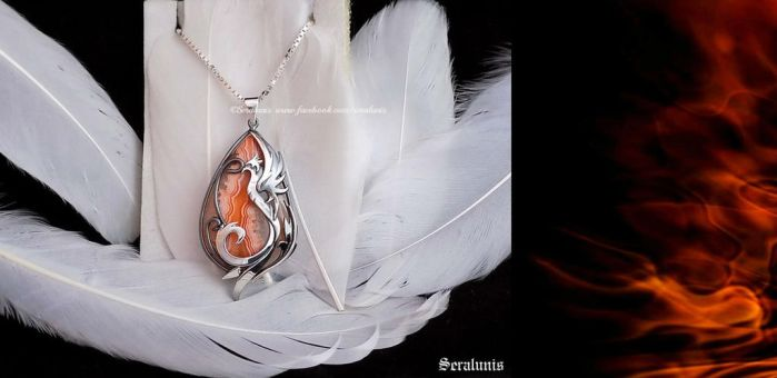 Reviving Flames' sterling silver necklace by seralune