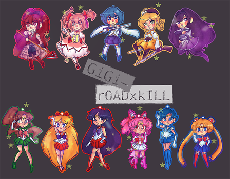 Magical Girls by CeruleanBunnies
