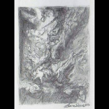 Fall of the Rebel Angeles 1 hour graphite study. by DifferentArtWorks