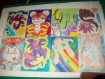 Dibujos con diferentes lineas by Runnie-the-cheetah