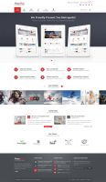 Metropolis Clean Corporate PSD Theme - Home01 by pixel-industry