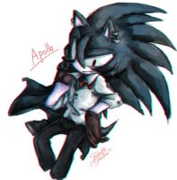 The Night Canine - Apollo The Hedgehog by 1412Shadow