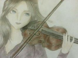 Coloured and Complete Violin Sketch by rachelegranger