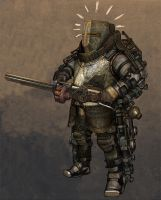 Medieval Steampunk Knight 2 by obyekt